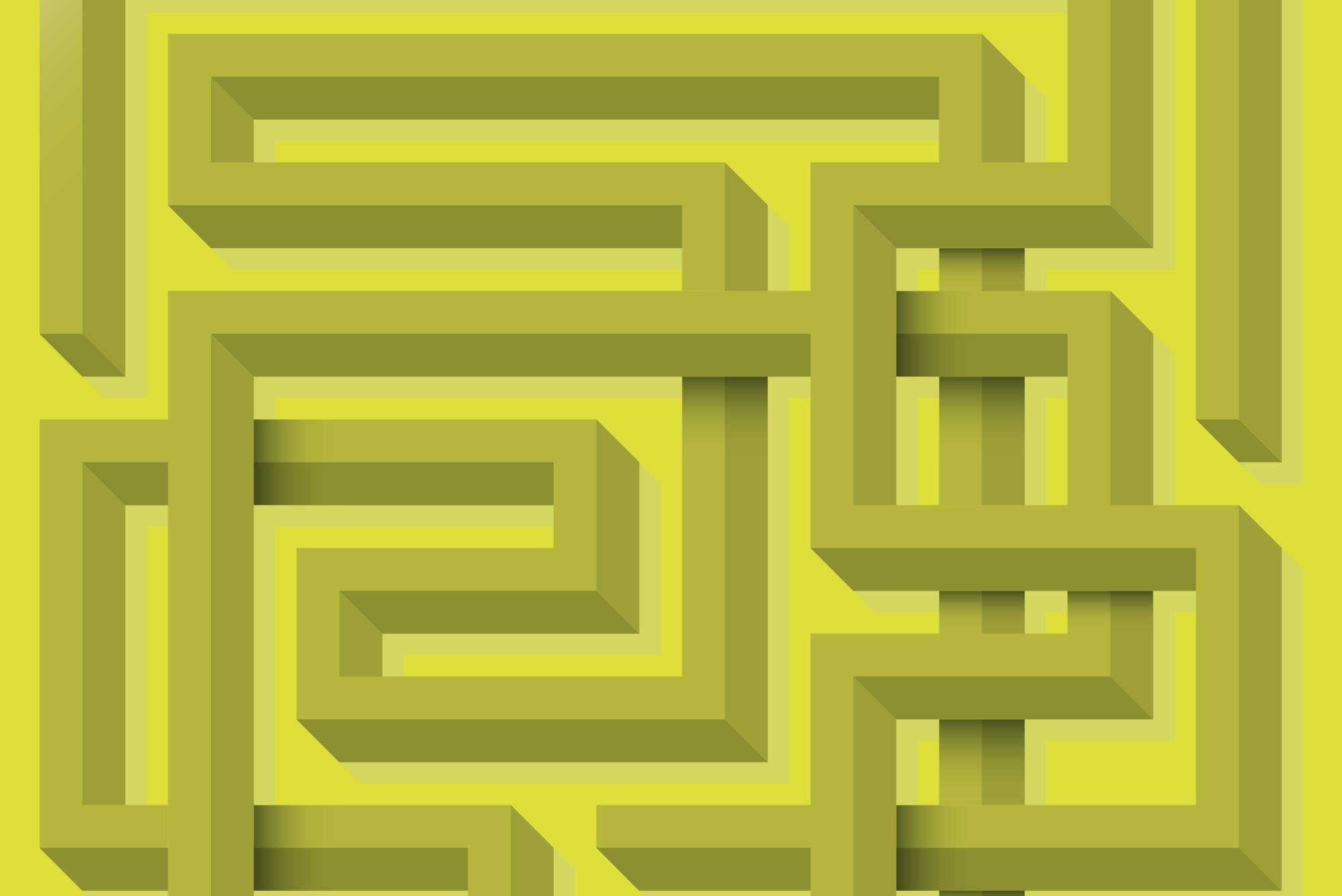 Pattern on yellow background - Fantastic digital experience