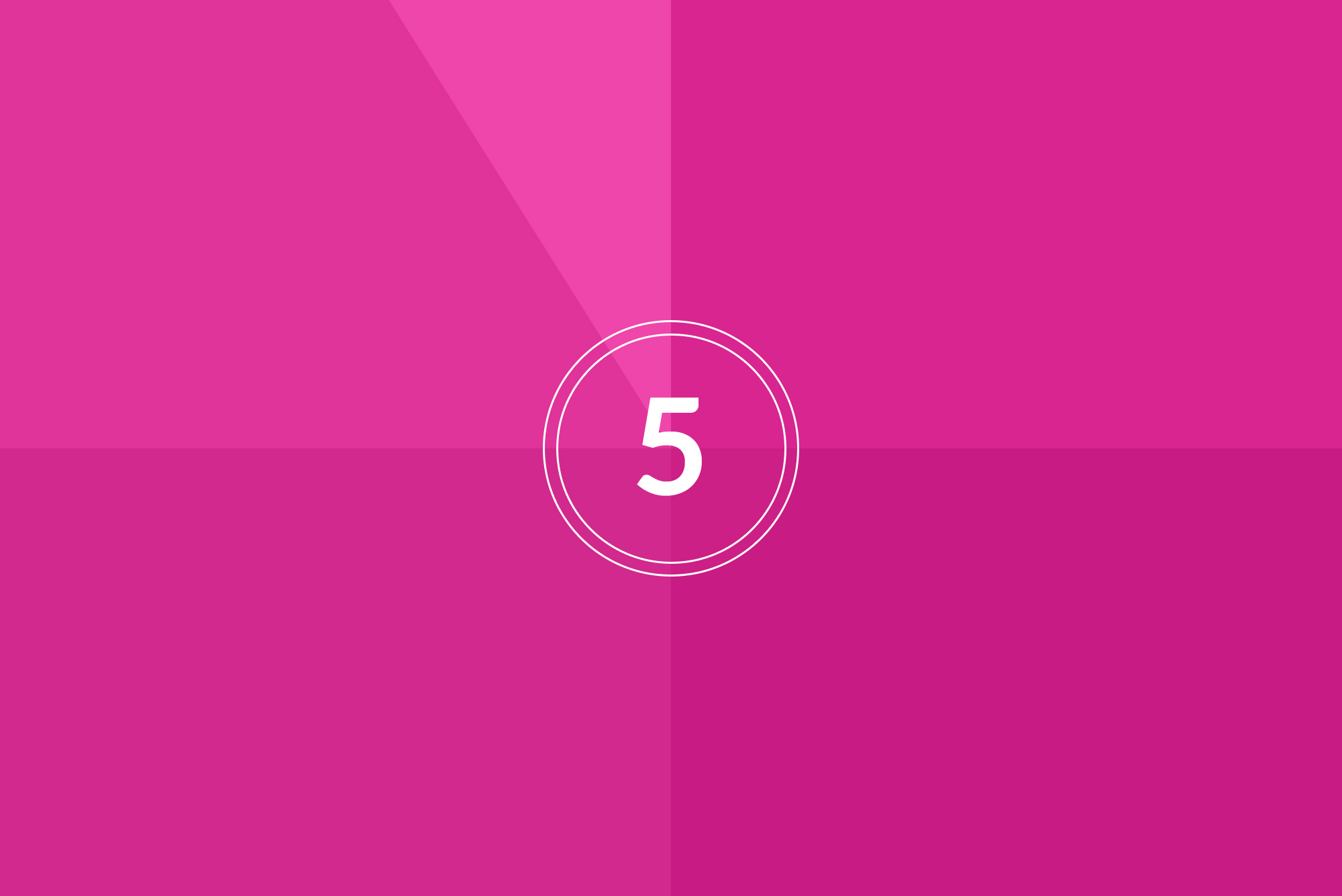 Countdown on pink background - Quality content