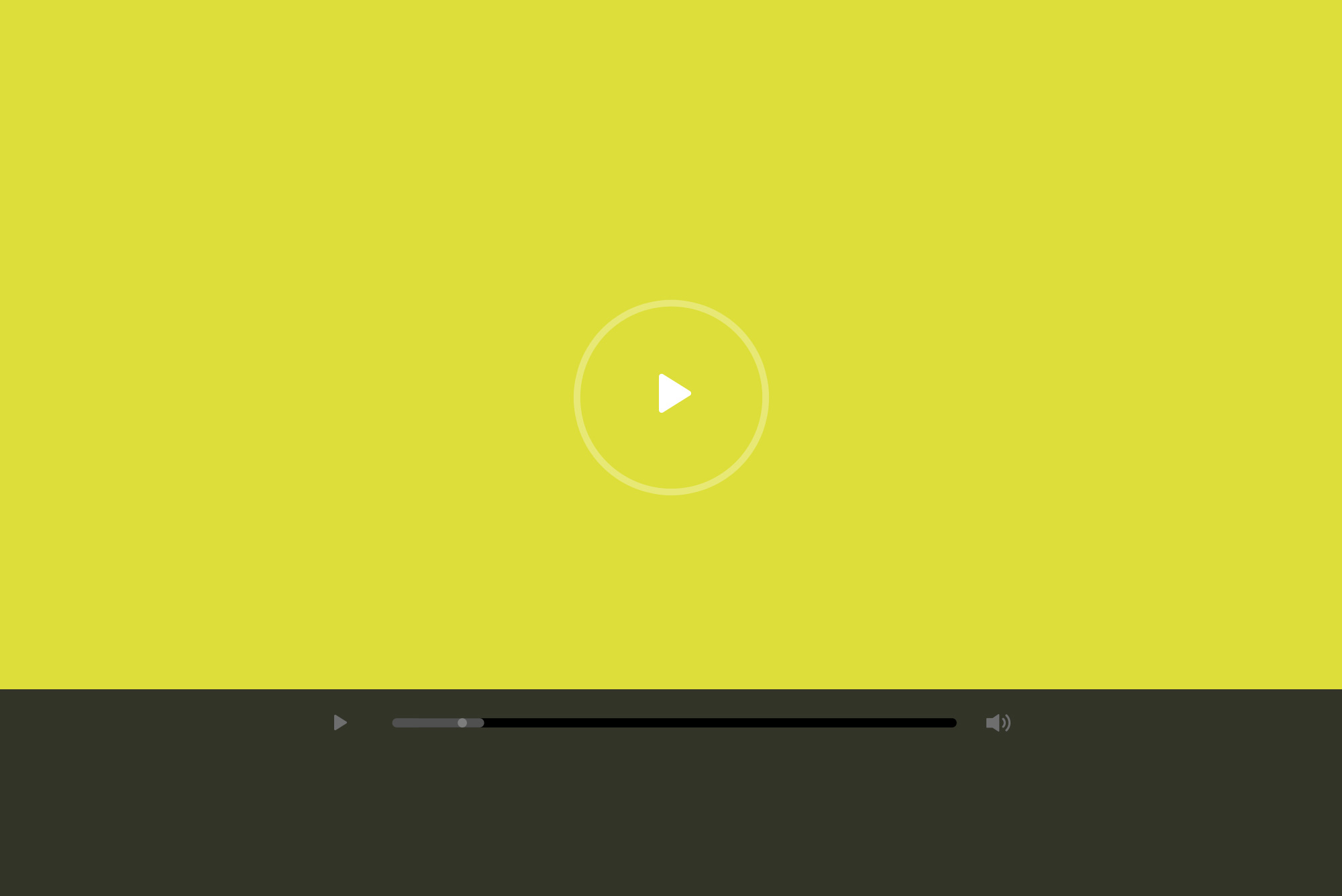 Video play button on yellow background - Video matters