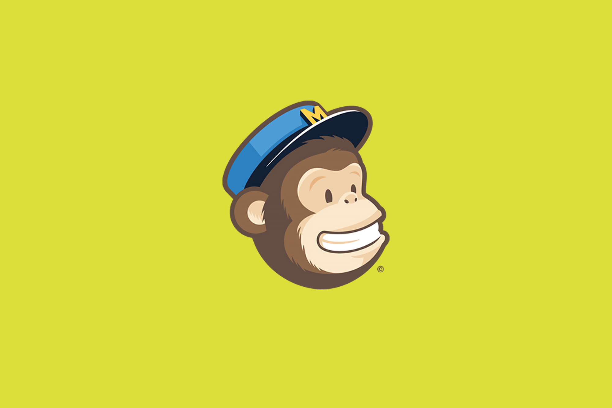 Mail Chimp logo on yellow background - Benefits of Email Marketing