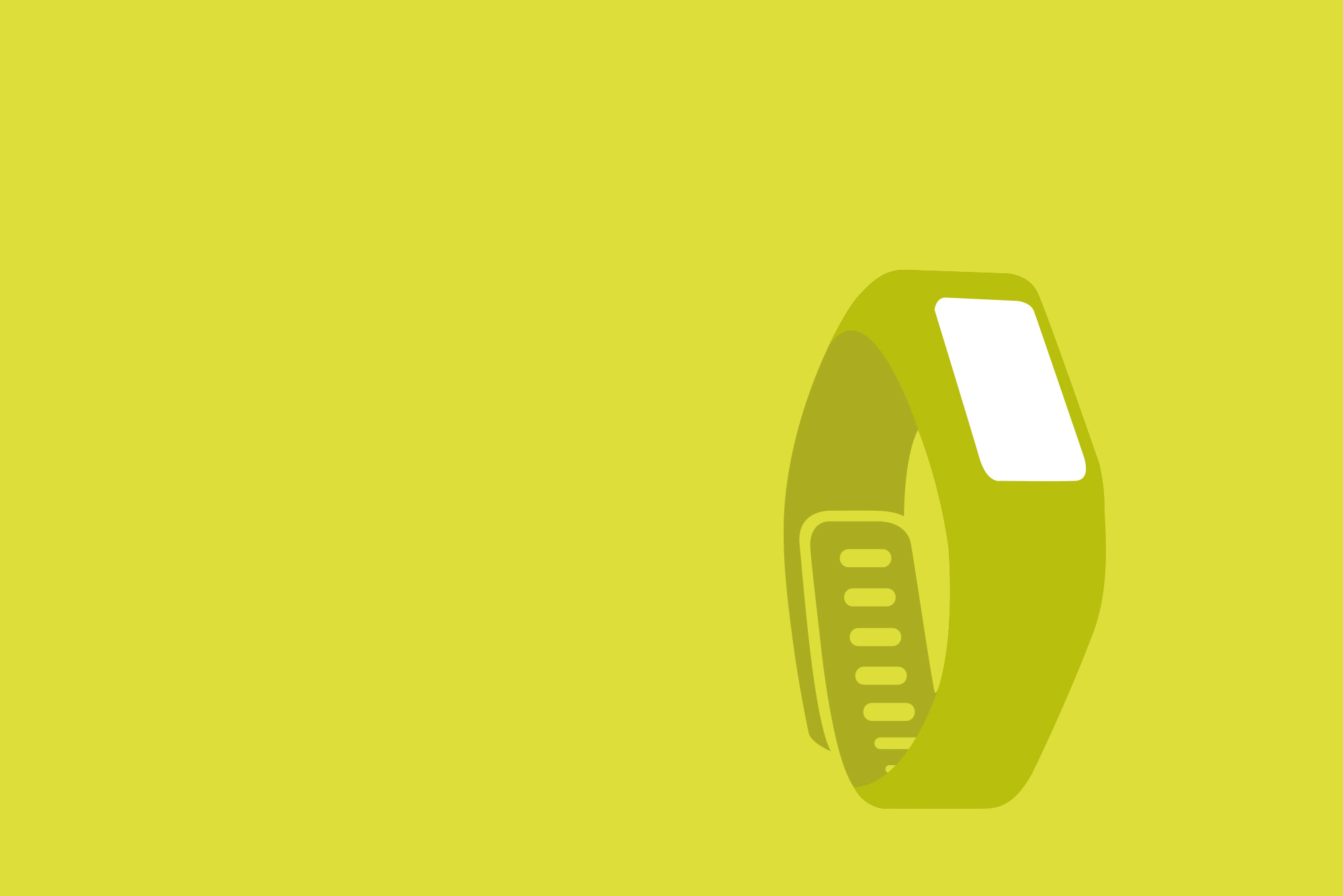 Smart watch on yellow background - Wearable tech