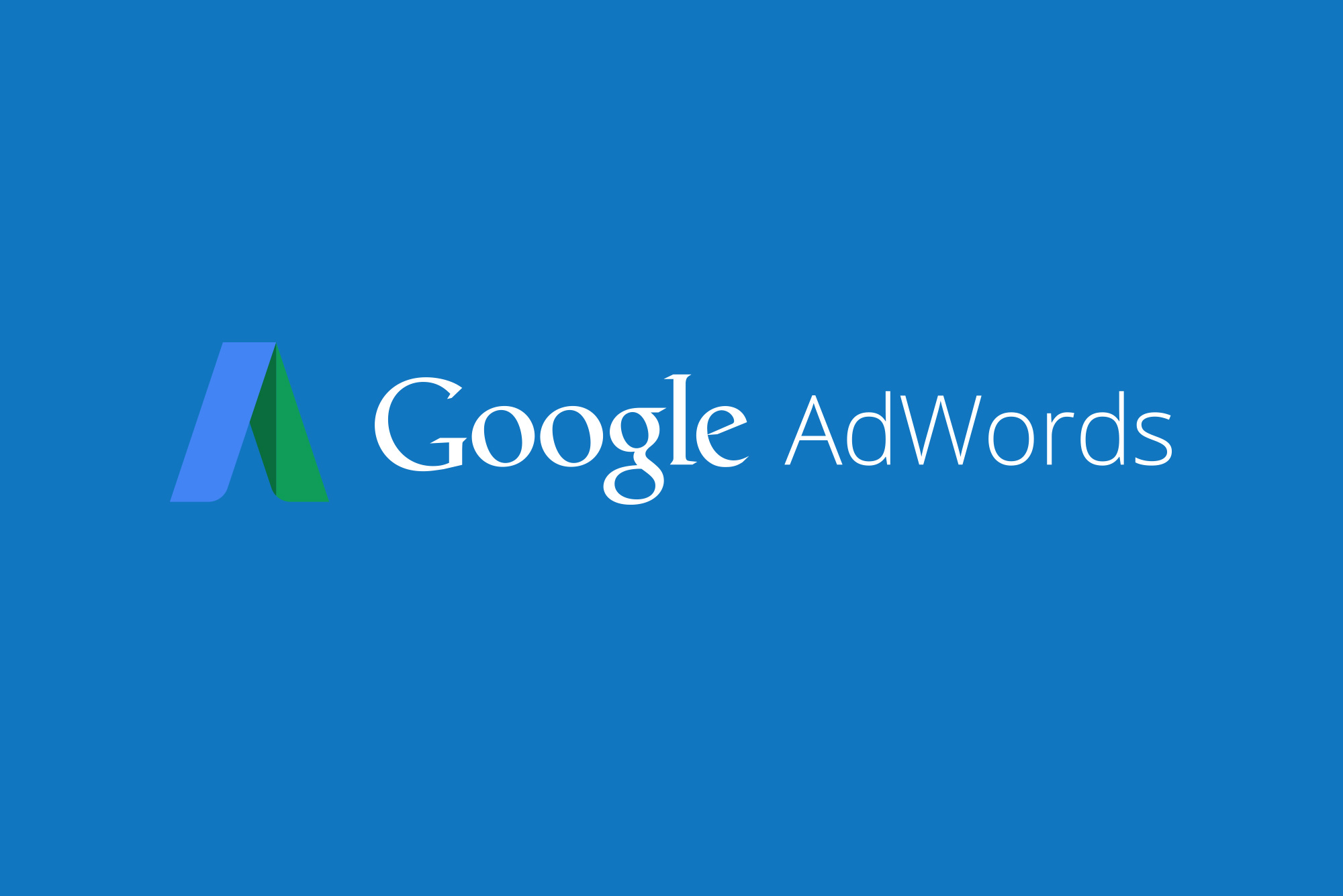 Google AdWords logo on blue background