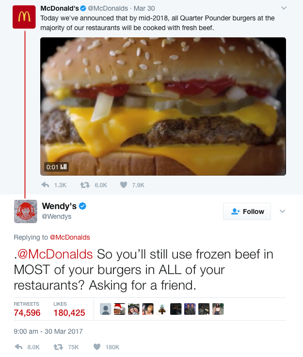 Wendy's Mcdonald's Twitter war
