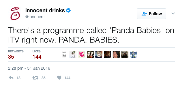 Innocent Drinks tweet 2