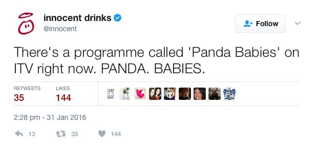 Innocent Drinks tweet 2