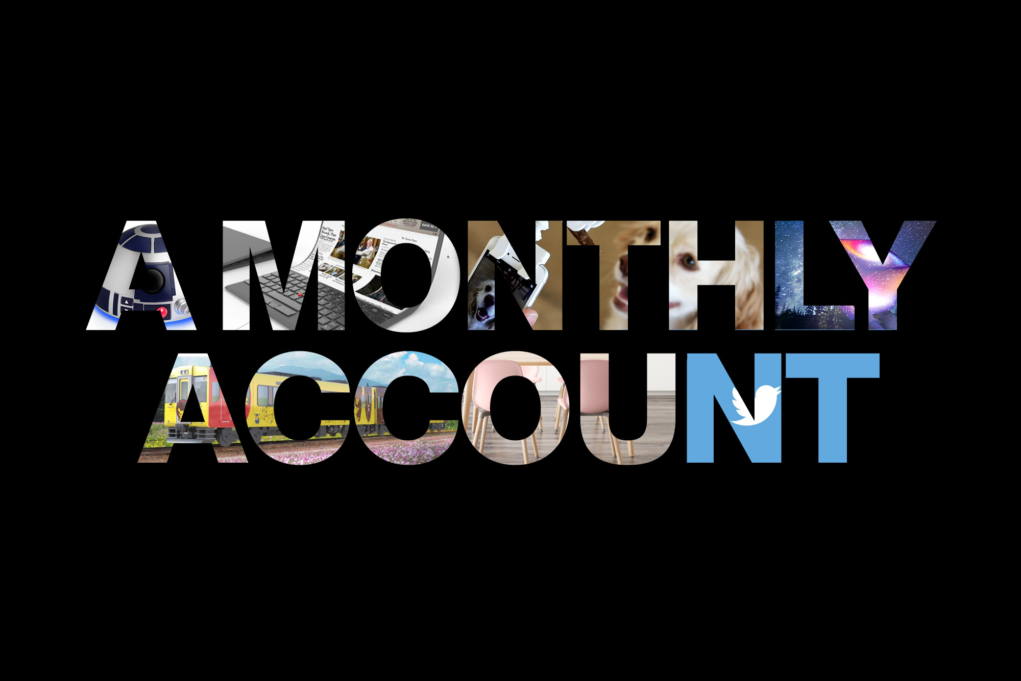 A Monthly Account main image made up of smaller images