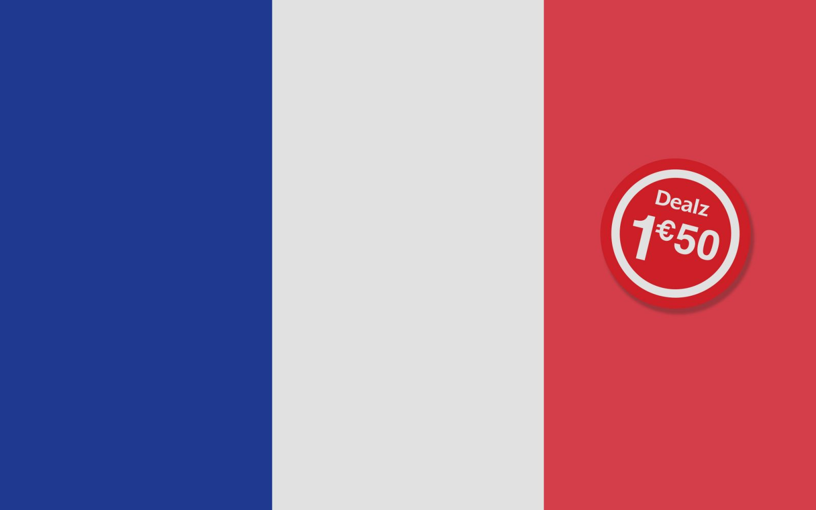 French flag with Dealz roundel